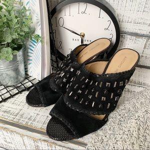 Antonio Melani embellished studded heels sz 9.5
